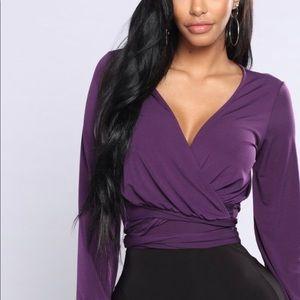 Fashion Nova Wrap shirt